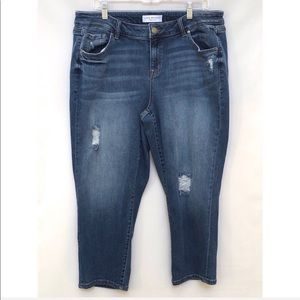 Lane Bryant girlfriend distressed jeans 16